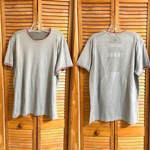 Lululemon Men's Gray Metal Tech Tee Short Sleeve